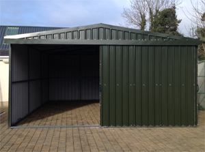 20ft x 24ft Steel Shed