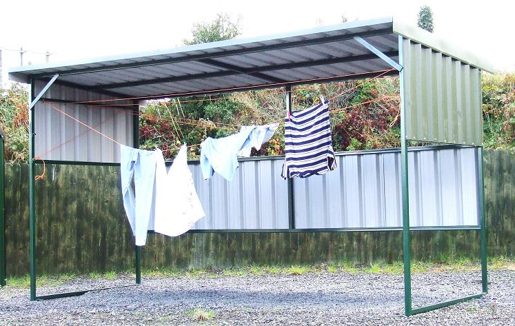 All Weather Boat Sheds : All weather clothes lines breen steel sheds