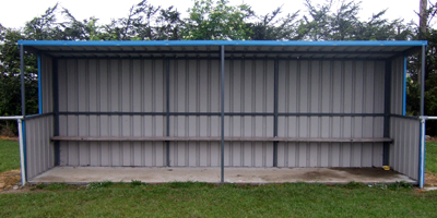Sports Dugout Front View
