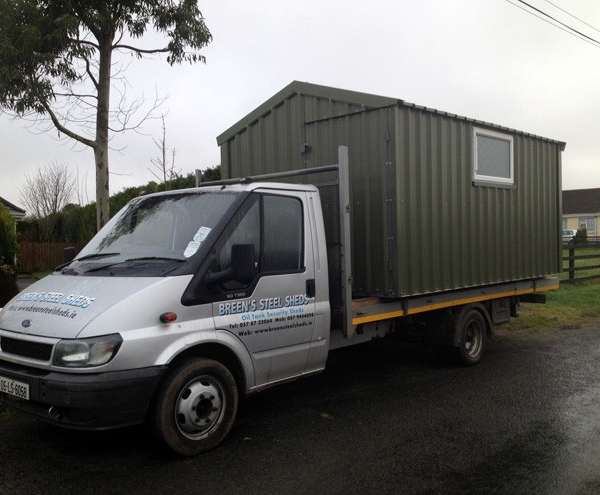 Delivery of New Shed to Client