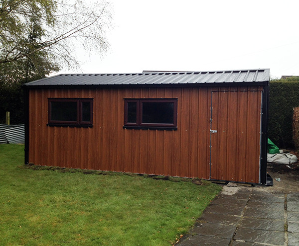 Timber Effect Shed